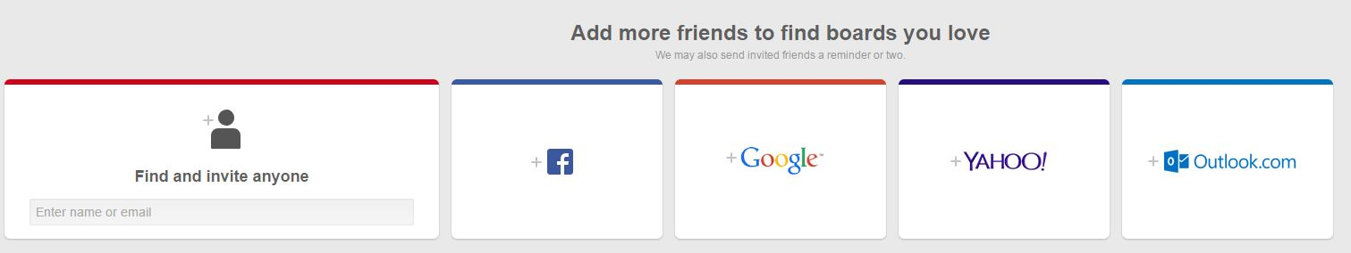 Find Friends and Remind Them of Your Pinterest Account