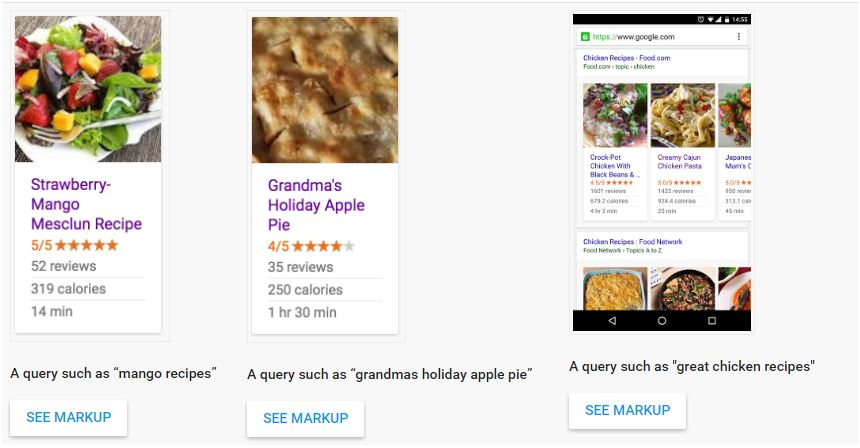 google recipe markup