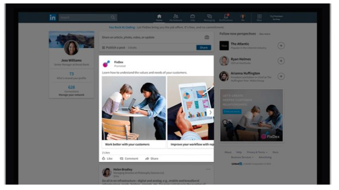 LinkedIn adds sponsored content carousel ads