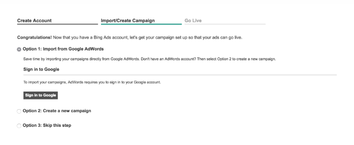 Import your AdWords campaign to Bing Ads