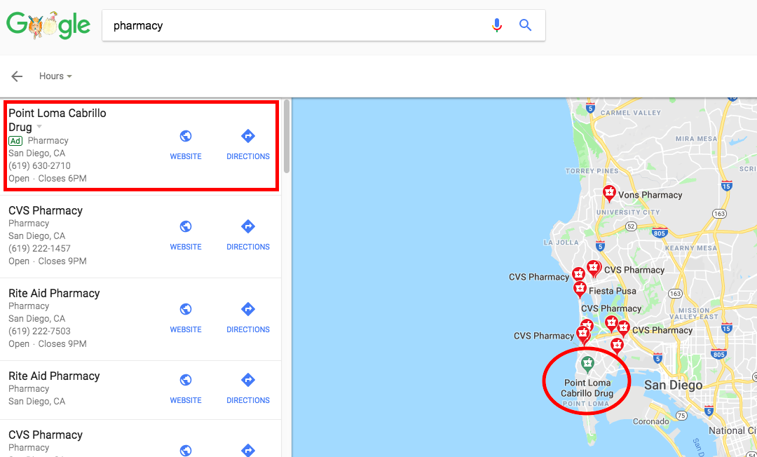 Google Maps marketing: local search ads