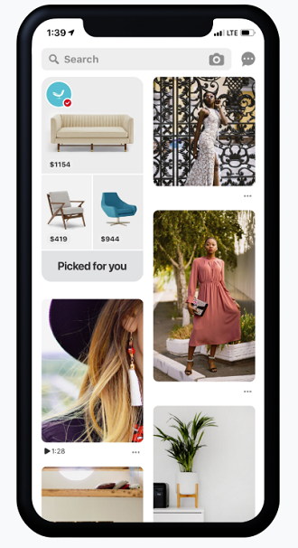 Pinterest adds new product showcase tools