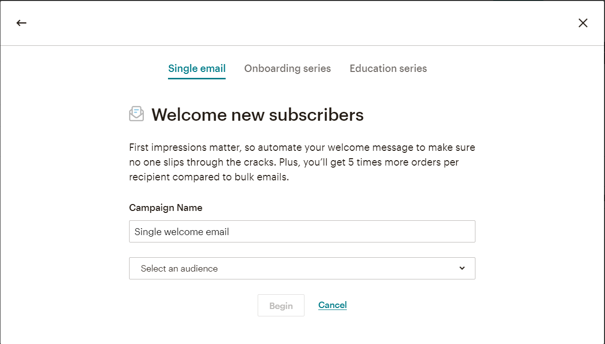 How to Use MailChimp: use its Automation builder to send a Welcome email