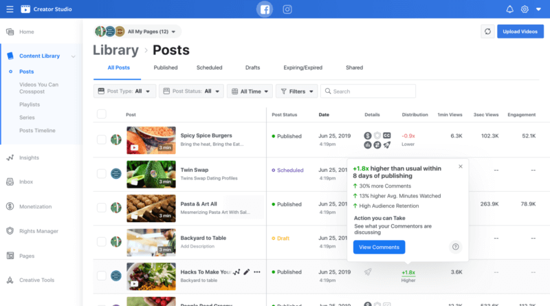 New tools for Facebook's Creator Center