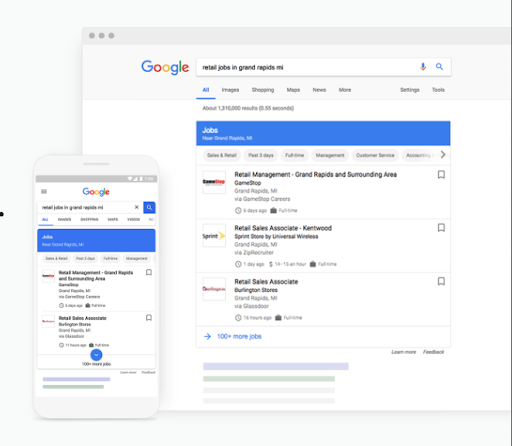 Use schema for a job listing SERP Feature