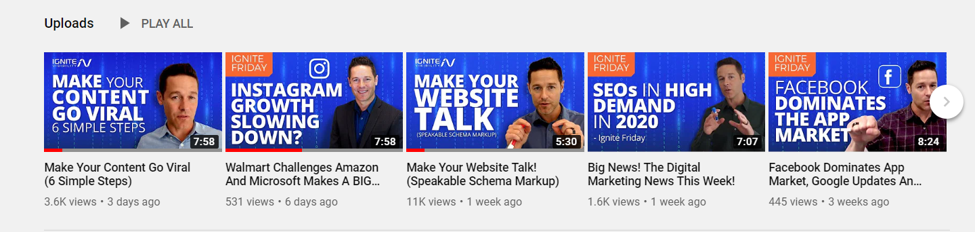 Staying active on YouTube will help keep an engaged audience