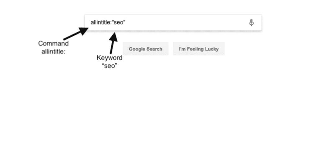 Example of a Google search operator
