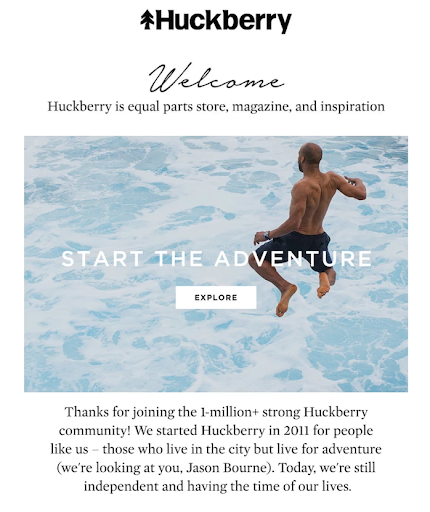 huckberry ecommerce email template