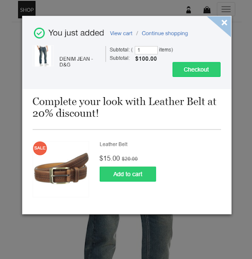 shop.com ecommerce email marketing template