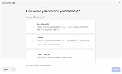 Setting up Facebook Automated Ads